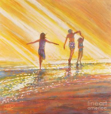 Rays Painting - Three Sisters by Kip Decker