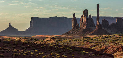 Photograph - Three Sisters Monument Valley  by John McGraw