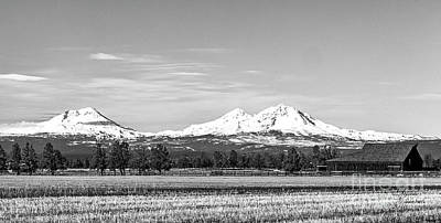 Photograph - Three Sisters Mountains by David Millenheft