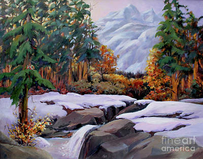 Three Sisters Near Banff Art Print by Marta Styk