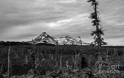 Photograph - Three Sisters Oregon by Michael Cross