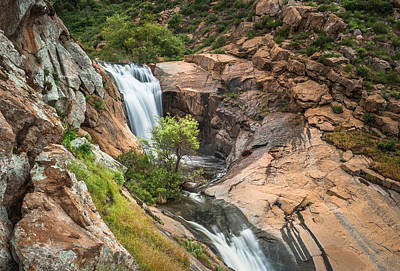 Photograph - Three Sisters Waterfalls - Upper Sister by Alexander Kunz
