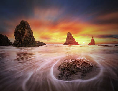 Photograph - Three Sisters With One Sun by William Lee