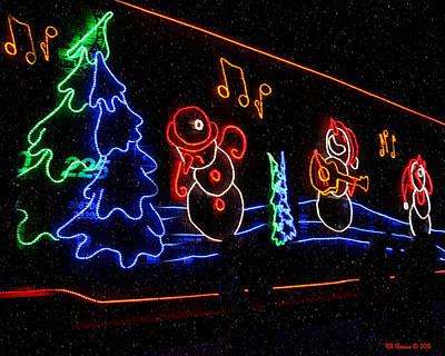 Photograph - Three Snowmen Singing by Kathy M Krause