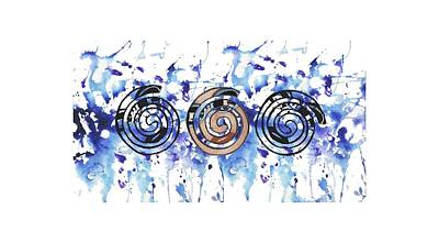 Digital Art - Three Spirals by Christine Perry
