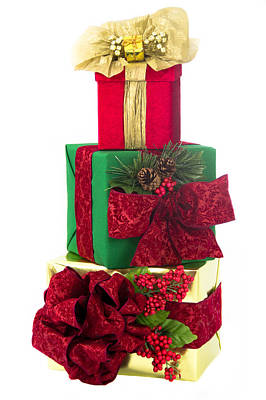 Three Stacked Holiday Presents Original