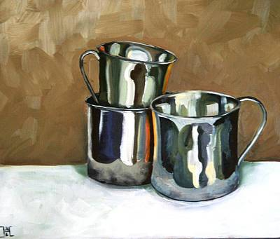 Three Sterling Cups Art Print by Amy Higgins