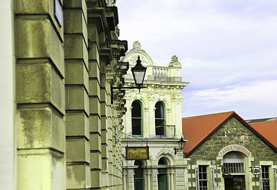 Photograph - Three Stone Buildings In Oamaru Historic Precinct by Nareeta Martin