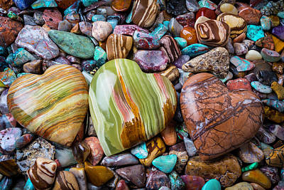 Photograph - Three Stone Hearts by Garry Gay