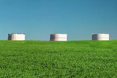 Photograph - Three Storage Bins by Todd Klassy