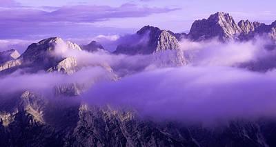 Three Summits. Julian Alps Art Print by Konstantin Dikovsky