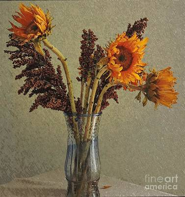 Photograph -  Three Sunflowers by Marcia Lee Jones