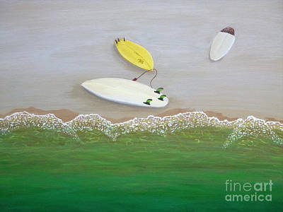 Painting - Three Surfboards by Jennifer Lindquist