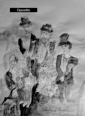 Painting - Three Tenors And A Pianist by Barb Greene mann