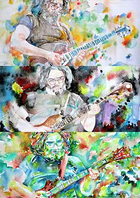 Painting - Three Times Jerry Garcia by Fabrizio Cassetta