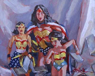 Painting - Three Times The Wonder by Carol Strickland