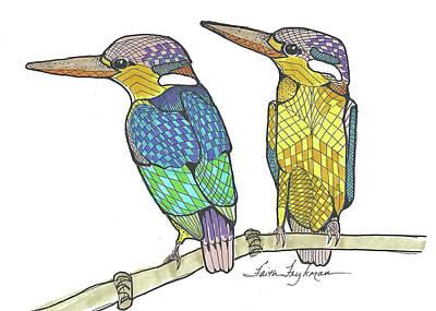 Three-toed Kingfisher Art Print by Faith Frykman