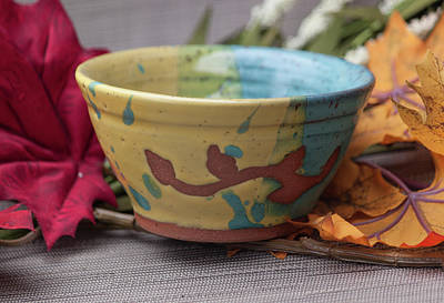 Ceramic Art - Three Toned Cereal Bowl by Suzanne Gaff