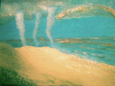 Extreme Weather Painting - Three Tornadoes by Barbara Searcy