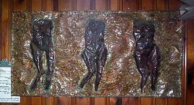 Relief - Three Torsos by Don Thibodeaux