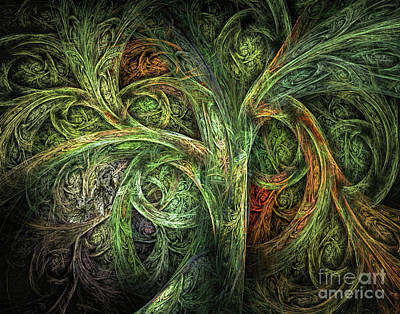 Digital Art - The Tree Of Life And Two Wise Owls by Olga Hamilton