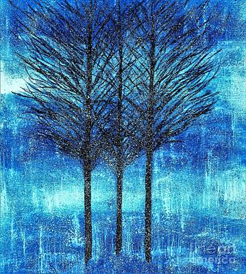 Three Trees  Art Print