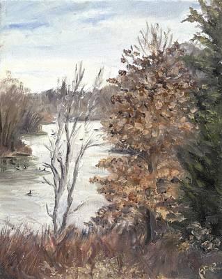 Wall Art - Painting - Three Trees Centennial Park by Katherine Farrell