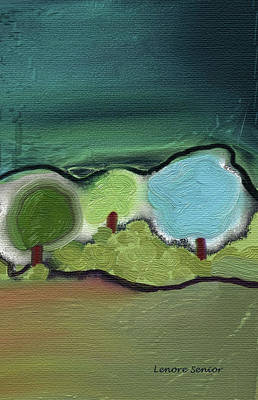 Three Trees - Triple Landscape Art Print