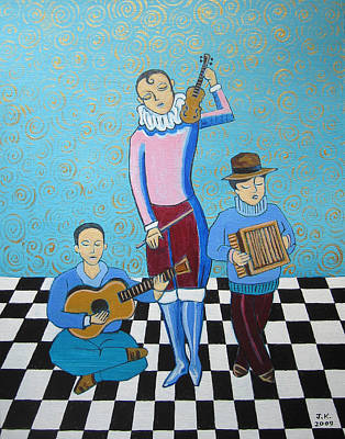 Painting - Three Troubadors by John Keaton