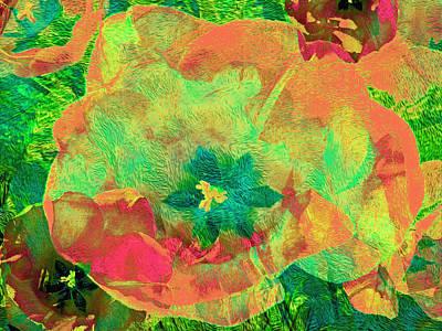 Mixed Media - Three Tulips 19 by Lynda Lehmann