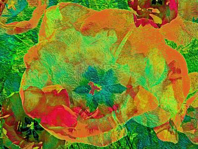 Mixed Media - Three Tulips 28 by Lynda Lehmann