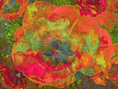 Mixed Media - Three Tulips 29 by Lynda Lehmann
