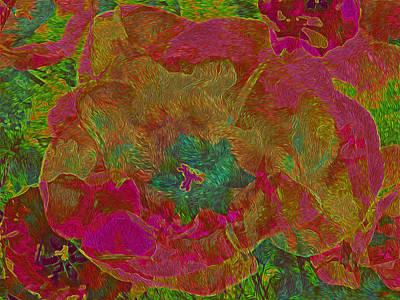 Mixed Media - Three Tulips 31 by Lynda Lehmann