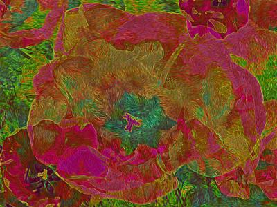 Mixed Media - Three Tulips by Lynda Lehmann