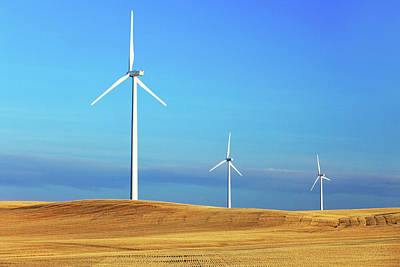 Photograph - Three Turbines by Todd Klassy