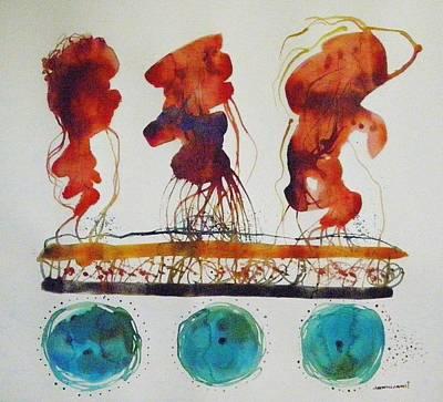 Painting - Three Vega Blue by John Williams