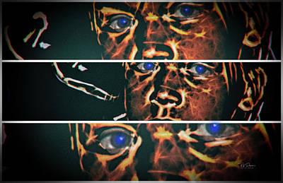 Digital Art - Three Views by Bill Posner