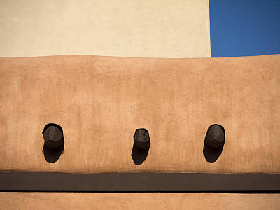 Santa Fe Photograph - Three Vigas by Carol Leigh