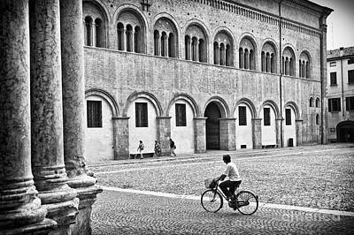 Photograph - Three Walking One Biking by Silvia Ganora