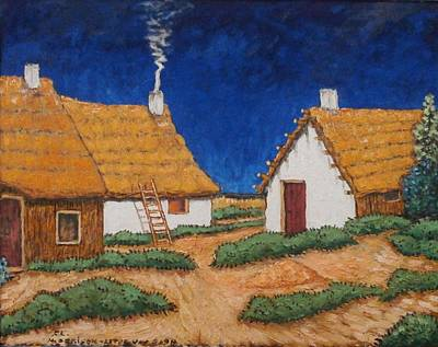 Three White Cottages  Print by Frank Morrison