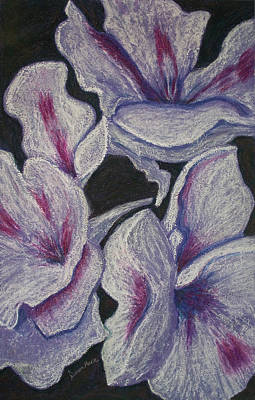 Painting - Three White Flowers by Dawn Marie Black