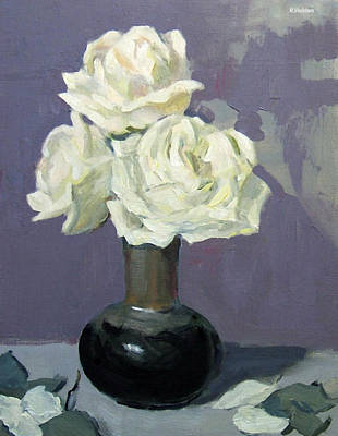 Three White Roses,abstract Background Original