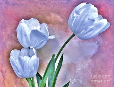 Three White Tulips Original
