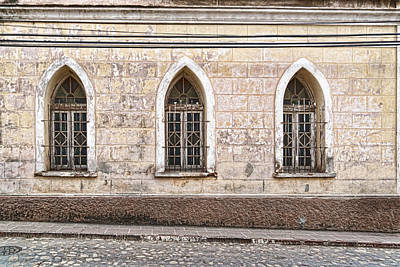 Photograph - Three Window Arches by Sharon Popek