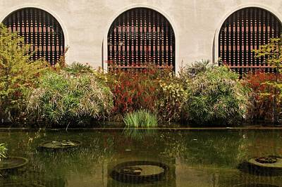 Photograph - Three Windows And A Pond by Hany J