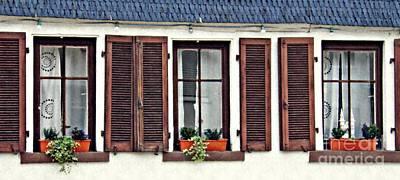 Photograph - Three Windows In Schierstein by Sarah Loft
