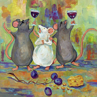 Three Wined Mice Original by Peggy Wilson