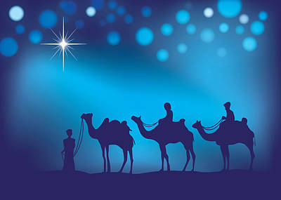 Digital Art - Three Wise Men Christmas Art by Serena King