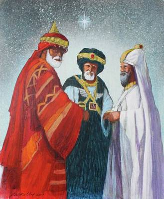 Painting - Three Wise Men by J W Kelly