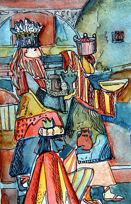 Three Wise Men Original by Mindy Newman